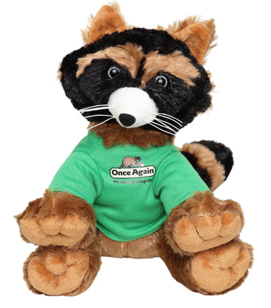 Once Again Rocky the Raccoon Plush, 9 Inch - Made of Polyester
