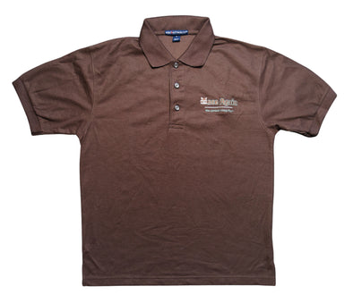Once Again Men's Collared Golf T-Shirt - Brown