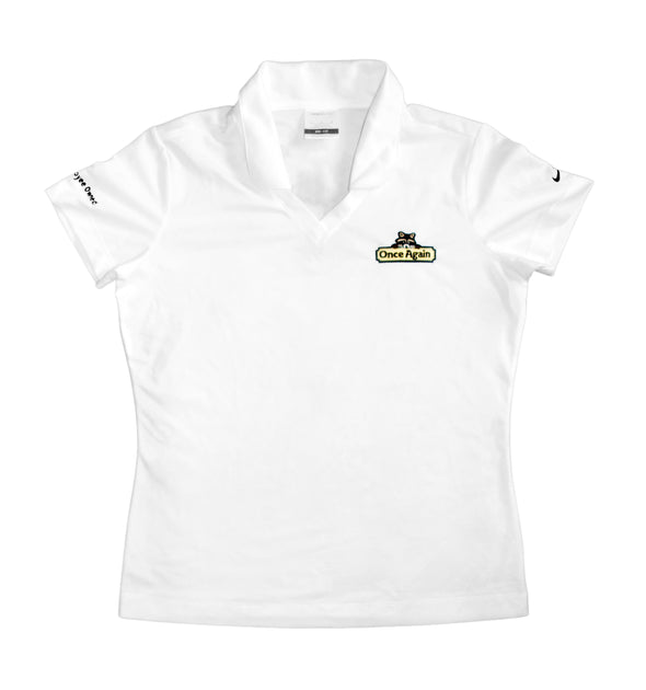 Once Again Women's Nike Collared Golf T-Shirt - White