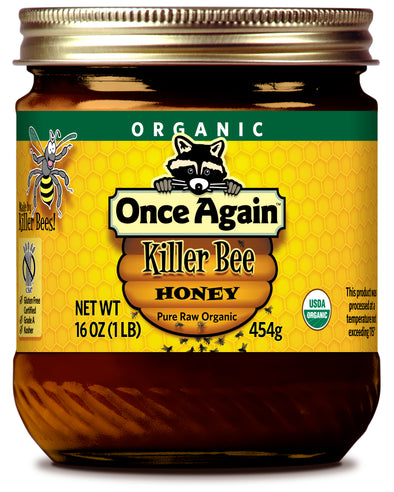 Organic Killer Bee Wildflower Honey - 16 oz