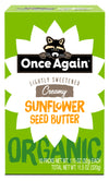 Organic Sunflower Butter - Lightly Salted & Sweetened - Peanut Free - 1.15 oz Squeeze Packs, 10 Count
