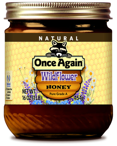 Natural Wildflower Honey - 16 oz