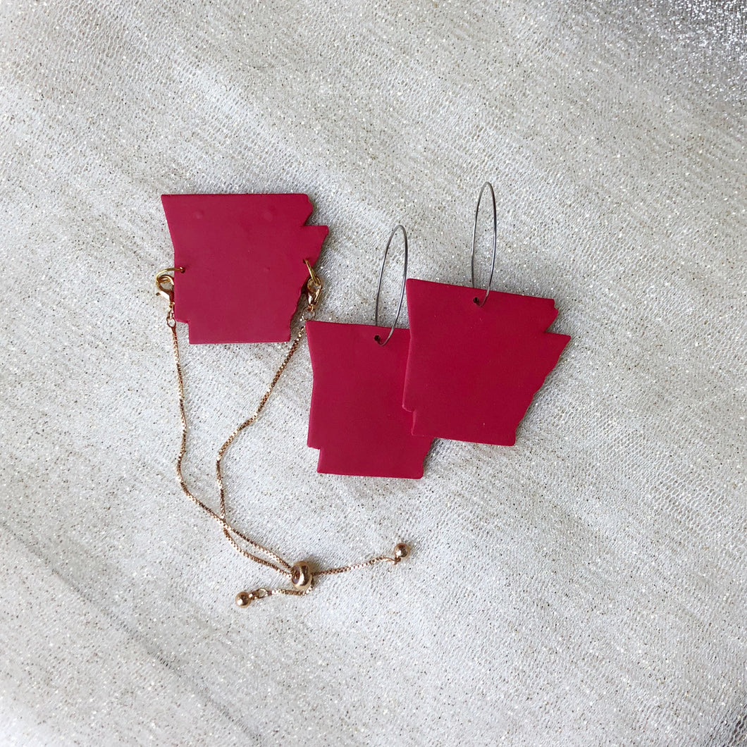 Arkansas bracelet and earrings set