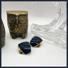 Load image into Gallery viewer, Vintage navy Monet studs