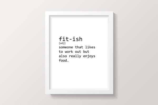 fit-ish Printable Wall Art