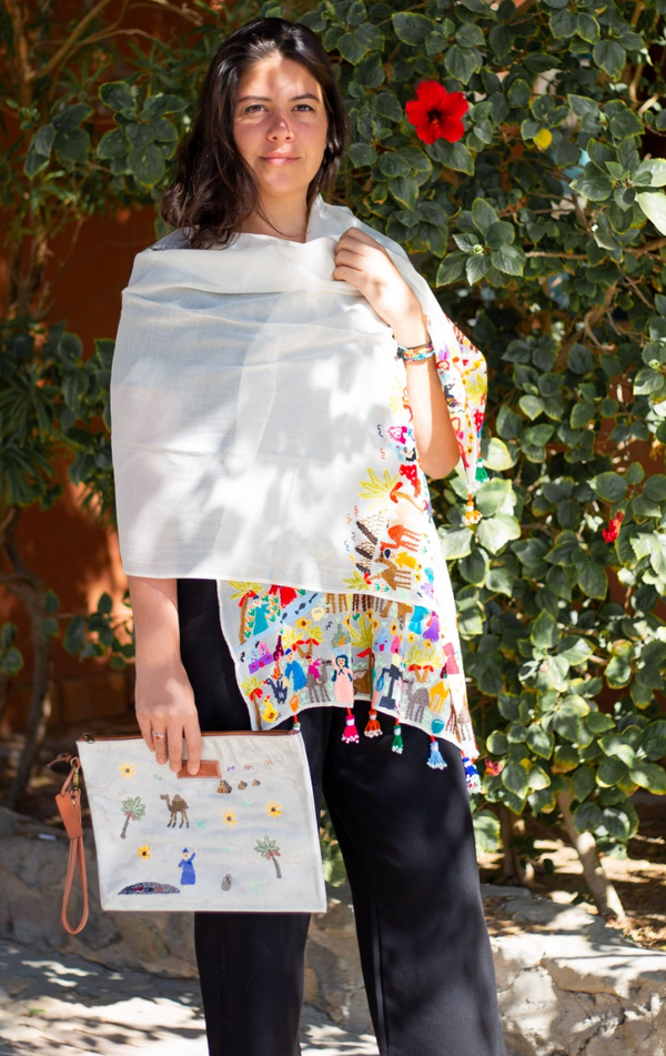 Shop the Look: Matching Fellahy Clutch and Shawl