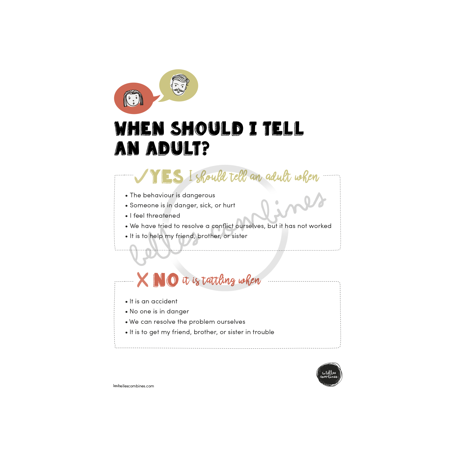 When should I tell an adult?