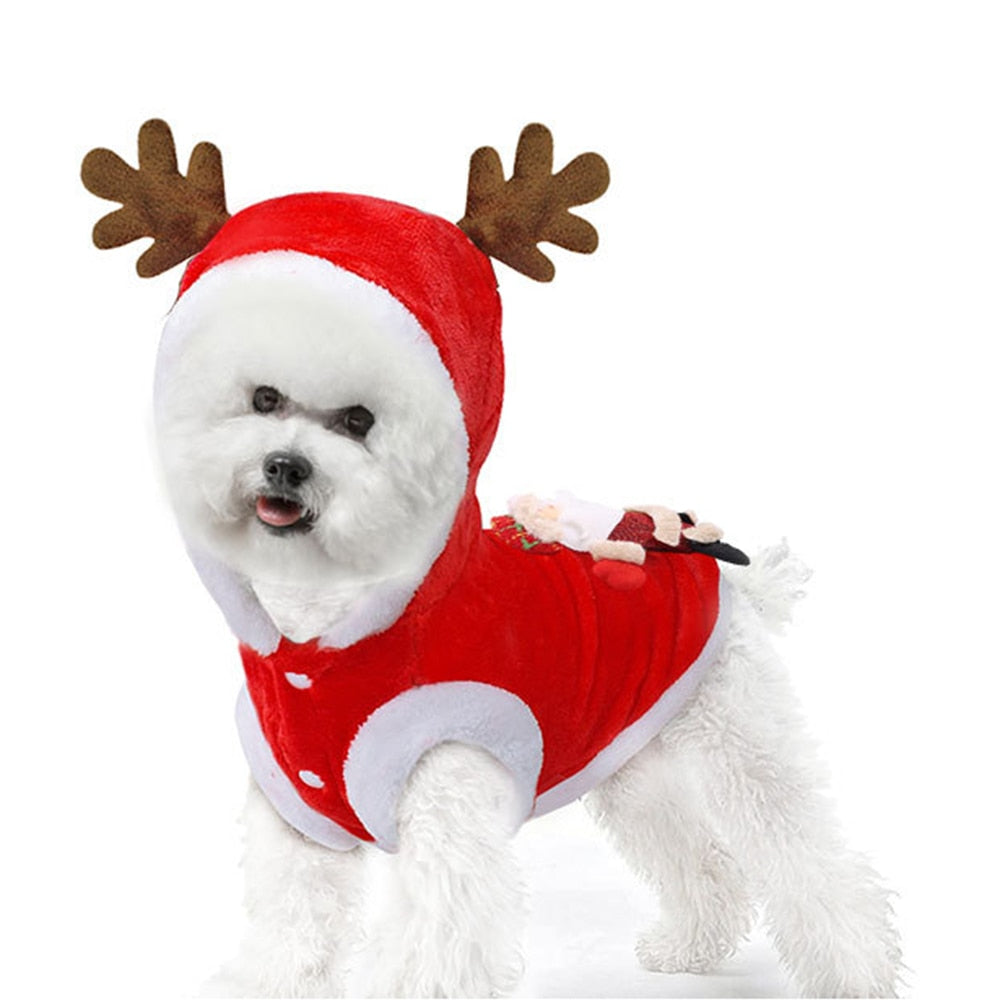 Dog Clothes Cute Dog Christmas Costume Small Dogs Pet Clothing Happypawsntails Com