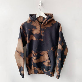 Inverse Tie Dye Fleece Hoodie - Not Locally