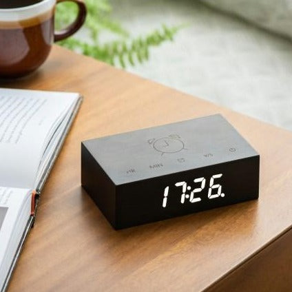 Gingko Flip Click Clock | Black
