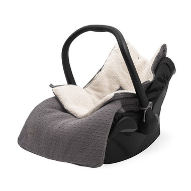 Jollein Voetenzak maxi cosi 0+ 3/5 punts | Bliss Knit Storm Grey