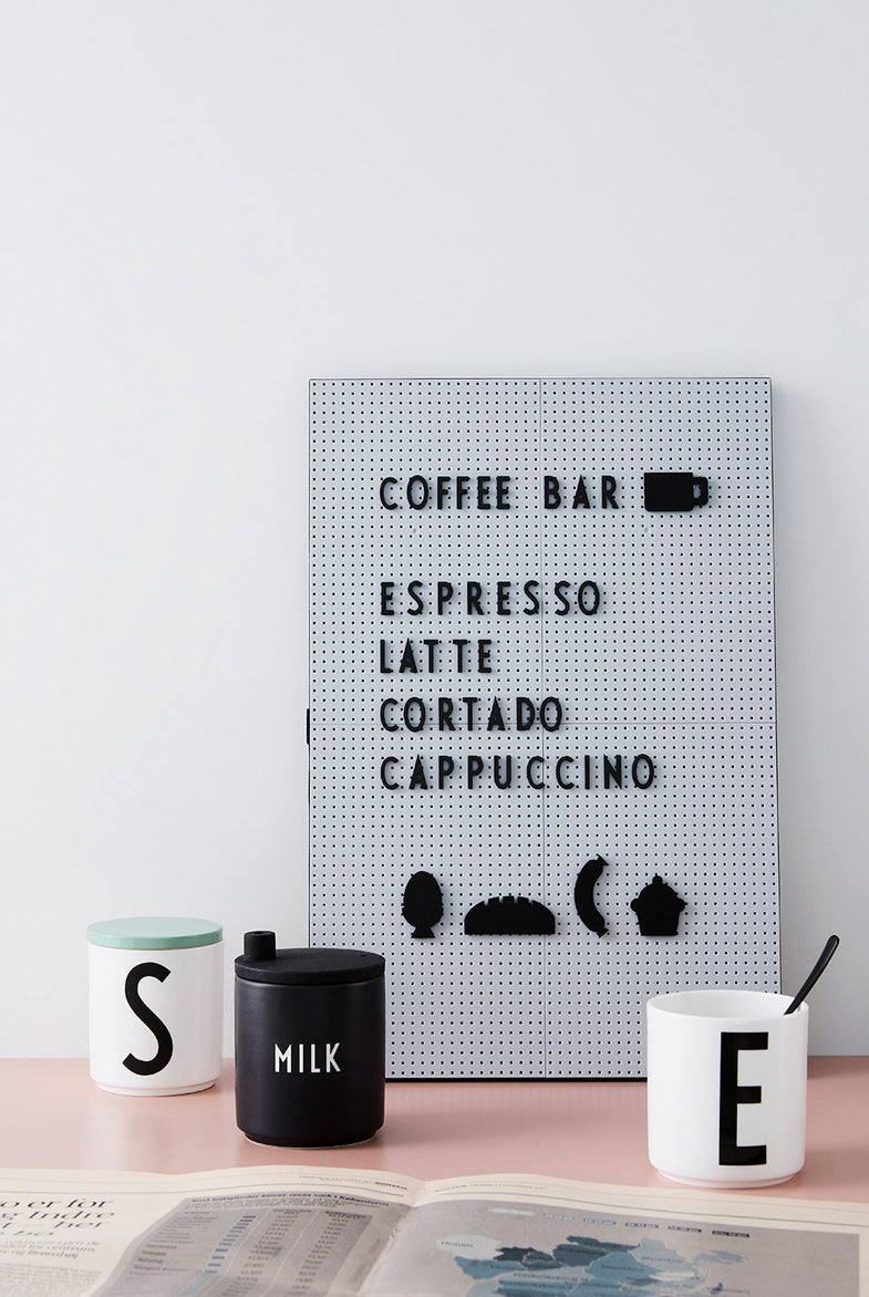 Design Letters Milk Jug | Black