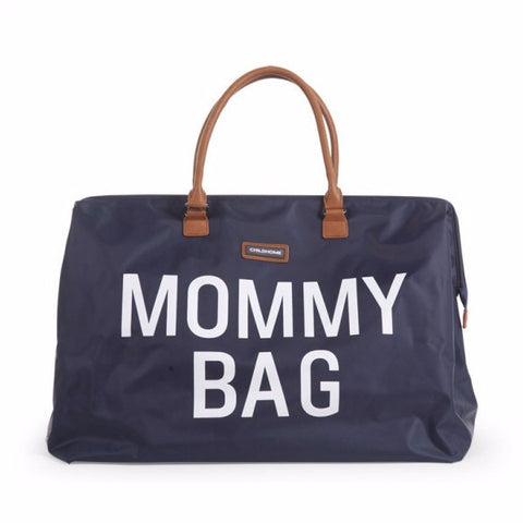 Childwood luiertas / weekendtas XL Mommy Bag marine - DE GELE FLAMINGO - 1