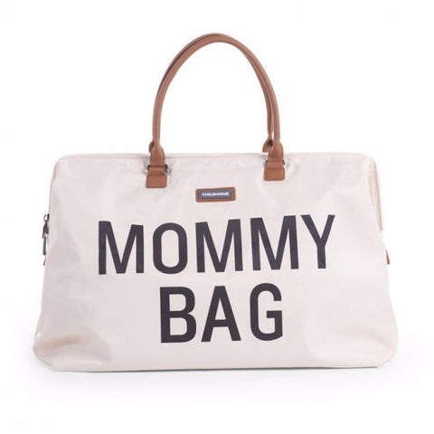Childwood luiertas / weekendtas XL Mommy Bag ecru - DE GELE FLAMINGO - 1
