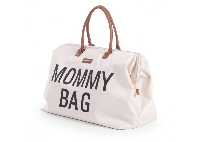 Childwood luiertas / weekendtas XL Mommy Bag ecru - DE GELE FLAMINGO - 2