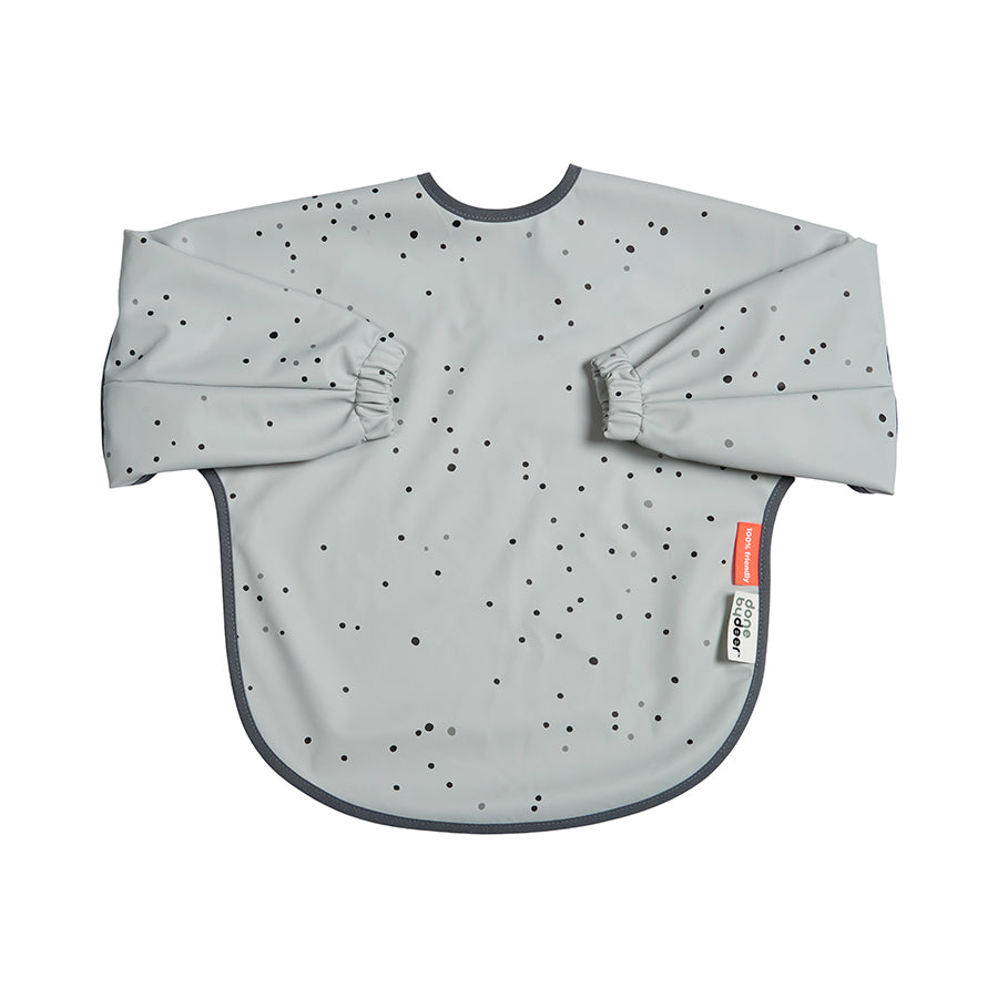 Done By Deer waterproof slab met mouwen - Dreamy Dots Grey