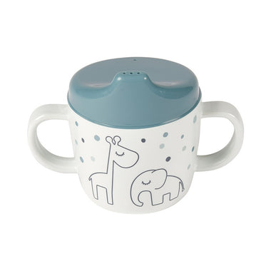 Done By Deer drinkbeker met handvaten Dreamy Dots Blue