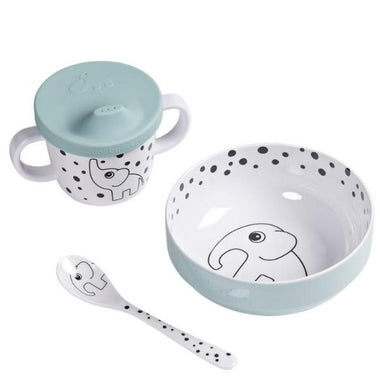 Done By Deer Melamine First Meal - Happy dots Blue