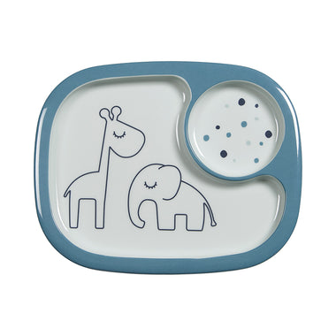 Done By Deer Melamine Bordje Met Vakken | Dream Dot Blue