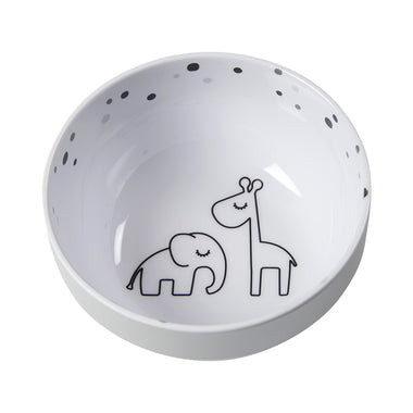 Done By Deer Melamine Bowl Mini Dreamy Dots Grey