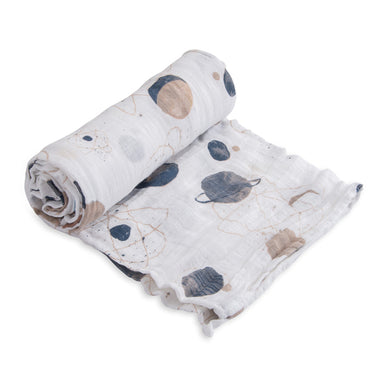 Little Unicorn Katoenen Muslin Swaddle 120x120cm | Planetary