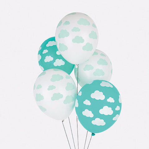 Set 5 ballonnen Confetti Clouds - DE GELE FLAMINGO