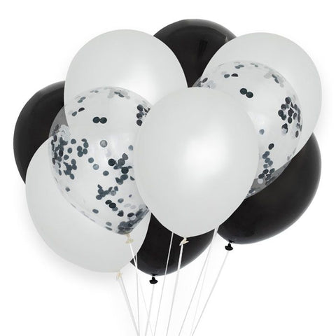 House Of Gia Set 10 Monochrome Balloon Mix