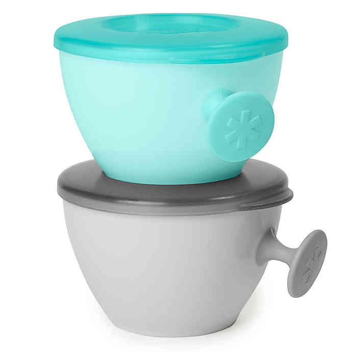 Skip Hop Easy Grab Set 2 Bowls | Grey Teal
