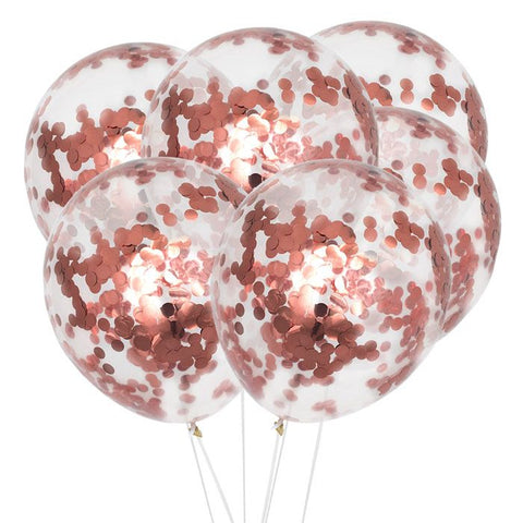 House Of Gia Set 6 Confetti Ballonnen - Rosé Gold