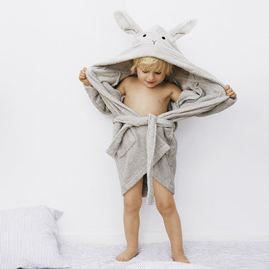 Liewood Lily Bathrobe | Rabbit Dumbo Grey