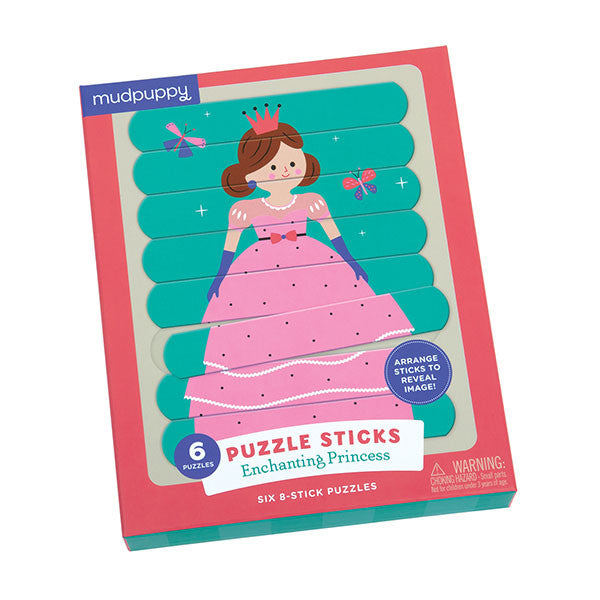 Crocodile Creek 6 stick puzzels 8 stukken - Princess - DE GELE FLAMINGO - 1
