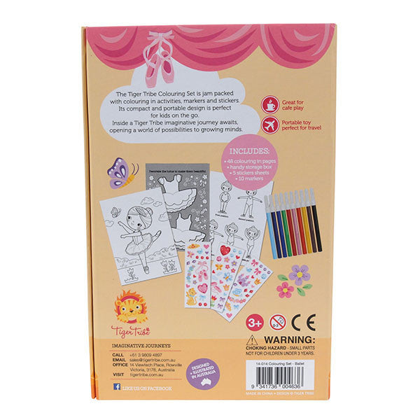 Tiger Tribe meeneem kleur/sticker set - Ballet - DE GELE FLAMINGO - 3