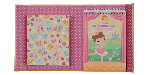 Tiger Tribe meeneem kleur/sticker set - Ballet - DE GELE FLAMINGO - 5