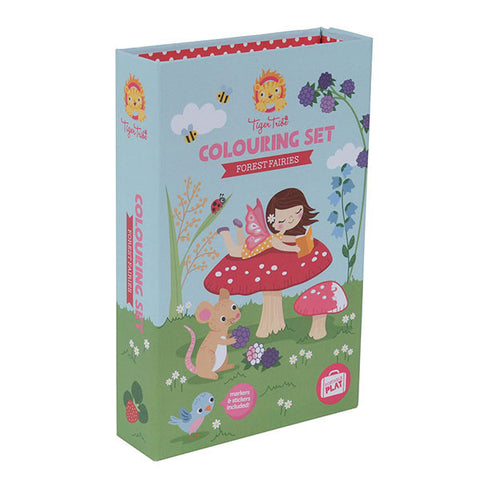 Tiger Tribe meeneem kleur/sticker set - Forest fairies - DE GELE FLAMINGO - 1