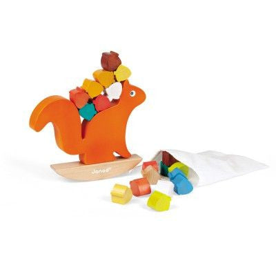 Janod nutty balance squirrel - DE GELE FLAMINGO - 1