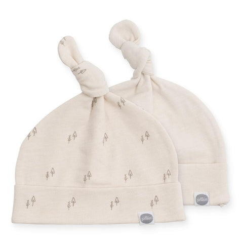 Jollein babymuts 6-12m set van 2 | Forest Off White
