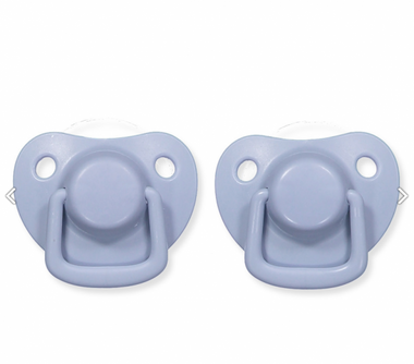Filibabba Set 2 Ronde Silicone Fopspenen In Doosje 0-6 maanden | Powder Light Blue