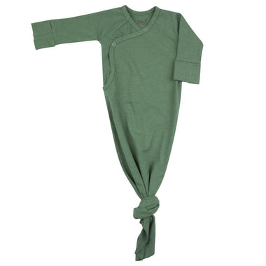 Timboo Knotted Baby Gown 0-3M | Aspen Green