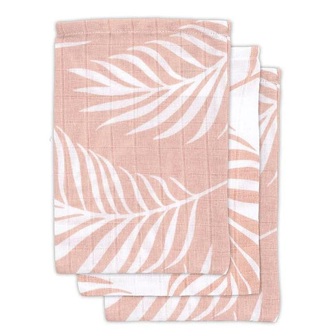 Jollein set 3 hydrofiele washandjes Nature Pale Pink