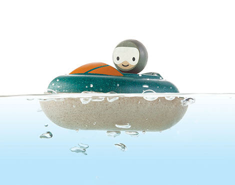 Plantoys badspeelgoed speedboat - DE GELE FLAMINGO - 2