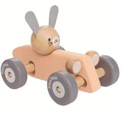 Plantoys Houten bunny racing car
