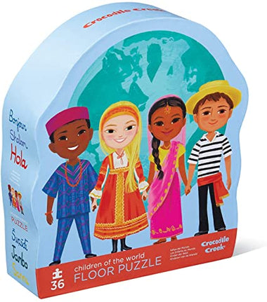 Crocodile Creek puzzel 36 stukken - Children Of The World