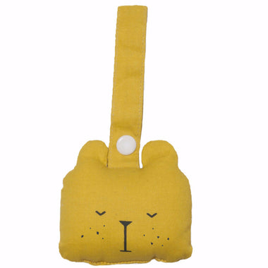 Fabelab Rammelaar Animal rattle Bear - Honey