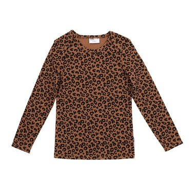 Maed For Mini Longsleeve | Chocolate Leopard