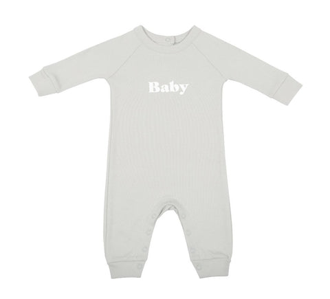 Bob & Blossom playsuit Mouse Grey Baby