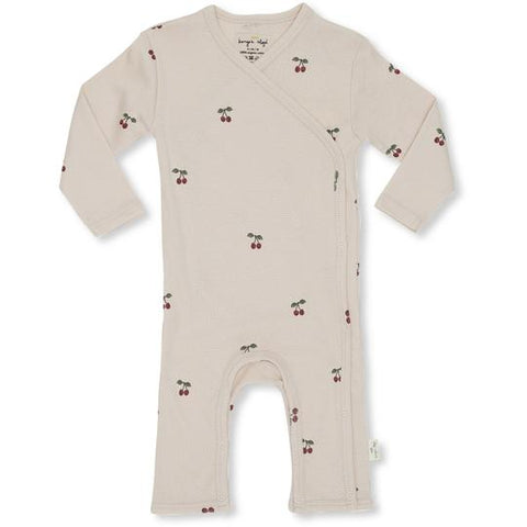 Konges Sløjd newborn onesie playsuit Deux Cherry Blush