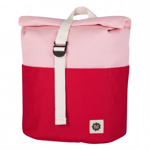 Blafre Roll Top Rugzak | Red + Pink