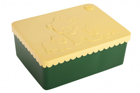 Blafre Brooddoos | Bear Dark Green Yellow
