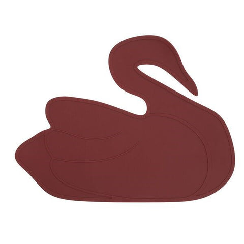 By Lille Vilde Placemat Swan Crimson Red