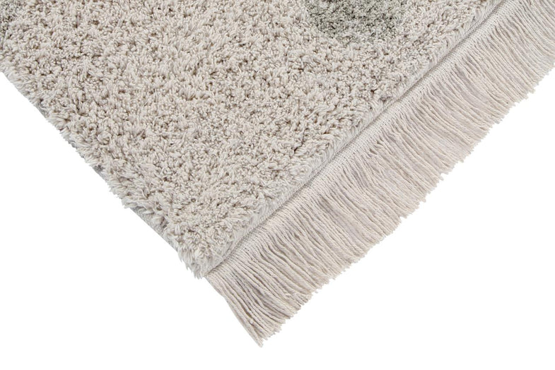 Lorena Canals machinewasbaar tapijt 120x160cm Hippy Dots Natural Olive